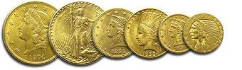 Monnaies americaines 5 et 10 Dollars type Indien