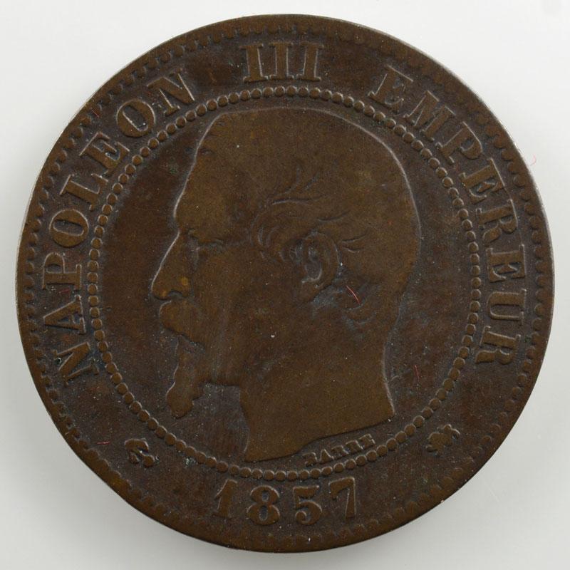 1857 D (petit D)  (Lyon)    B/TB