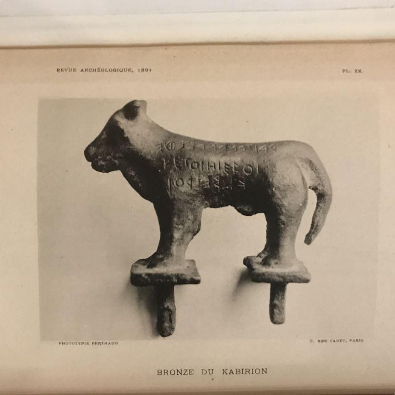 Revue Archéologique   année 1891   2 tomes