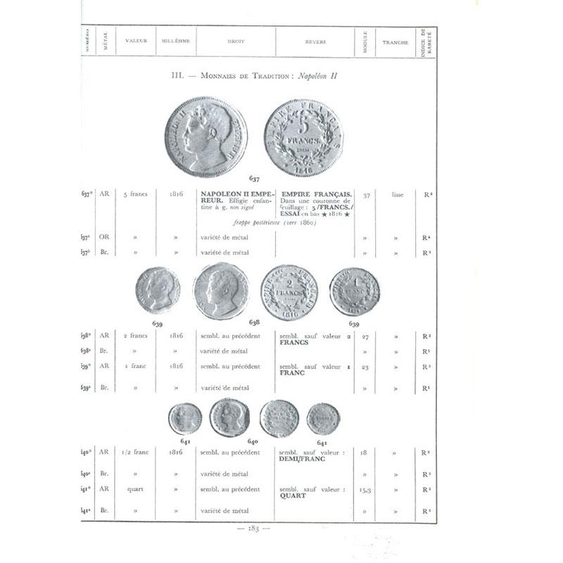 MAZARD   Histoire Monétaire et Numismatique Contemporaine   1790-1963   Tome I  1790-1848