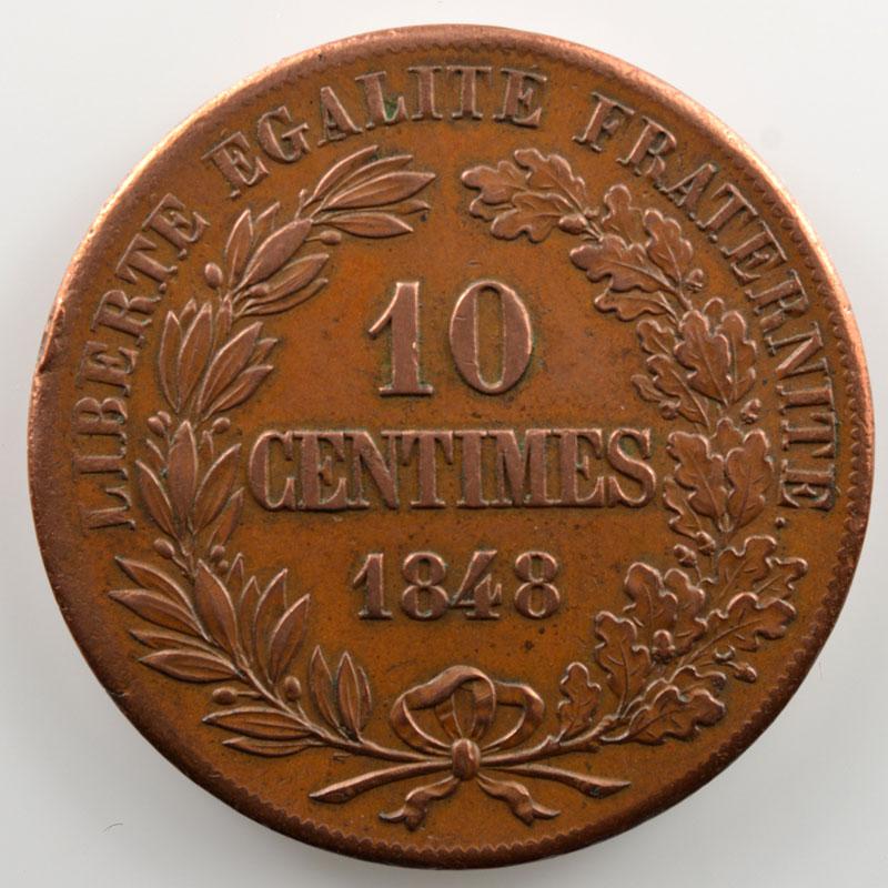 10 Centimes   1848   Concours de Alard   cuivre   revers a    TTB+/SUP