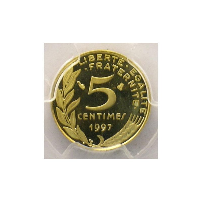 1997   col à 3 plis   PCGS-PR66DCAM    BE