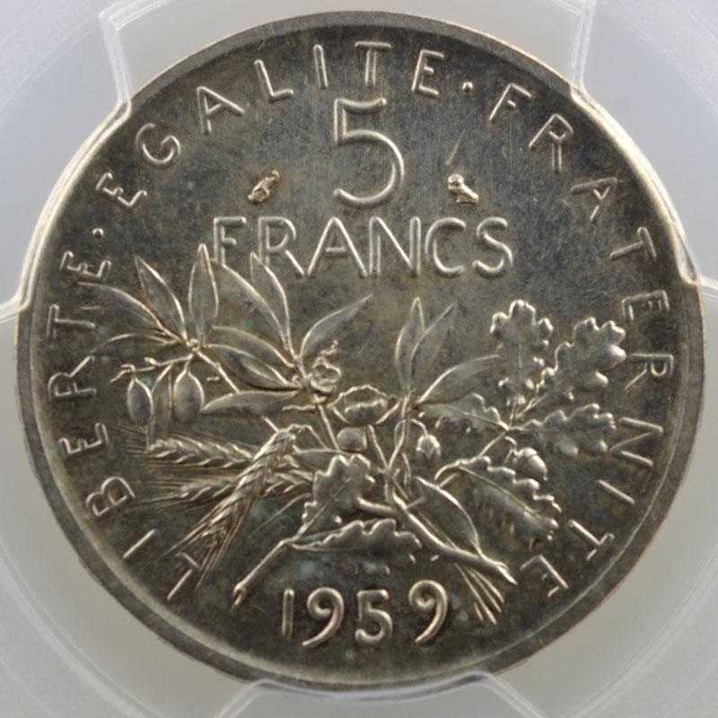 1959    Essai grand 5    PCGS-SP65    FDC