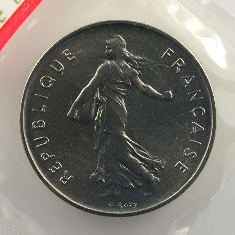 G.771P   5 Francs   1973 nickel    FDC