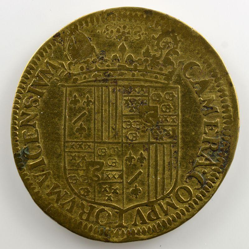Jeton de cuivre   Chambre des Comptes de Vic-sur-Seille   1615    TB+