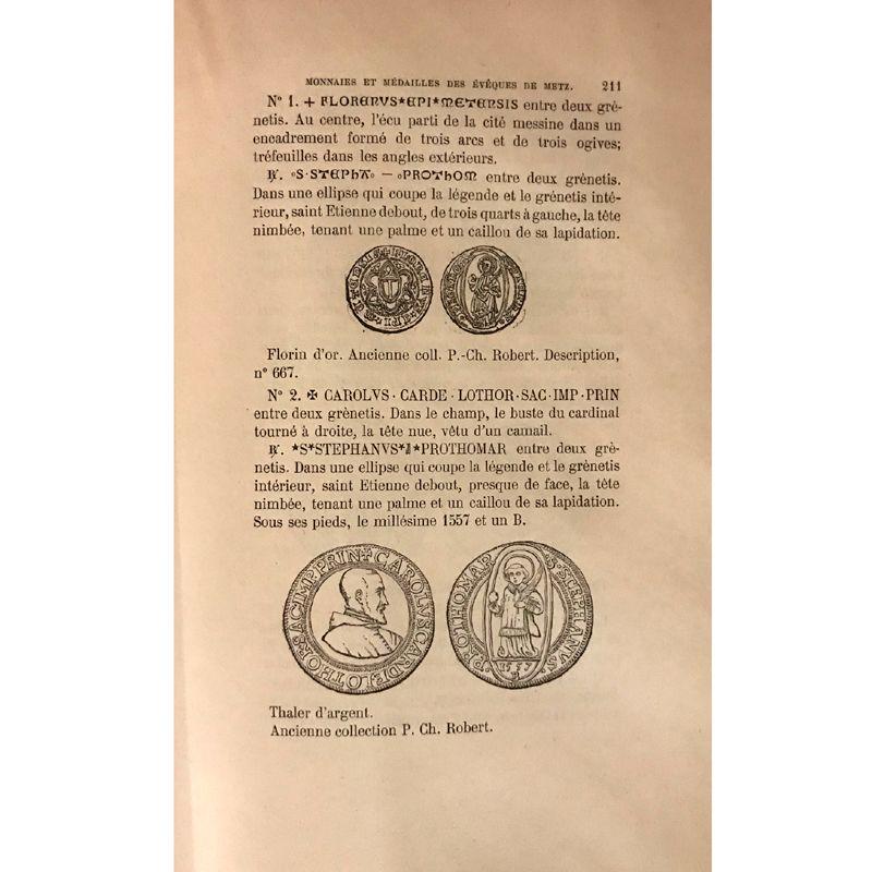 Robert - Serrure   Monnaies, Jetons et Médailles des Evêques de Metz