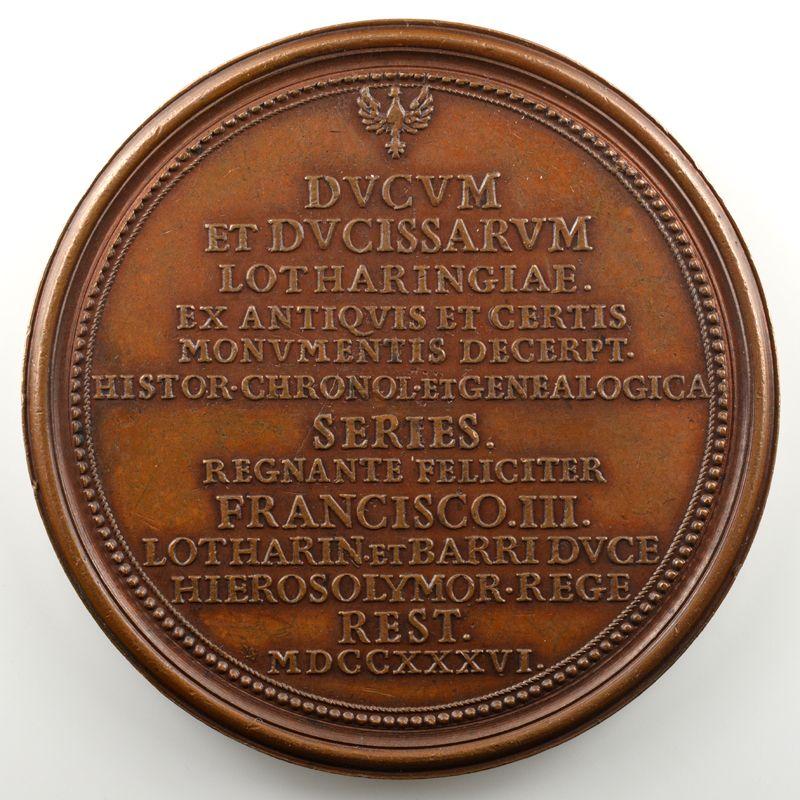 Médaillons des Alliances   bronze   70 mm   1736    TTB/SUP