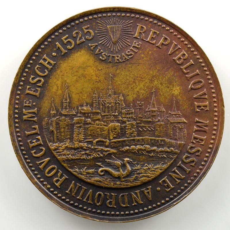 Jeton rond en cuivre  32mm   (fin XIX° siècle)    SUP