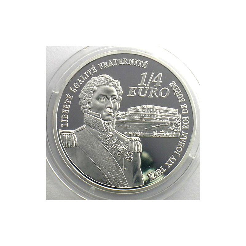 1/4 euro   Bernadotte, Maréchal d'Empire   2006   37mm   22,2 g - Ag 900 mill.    BE