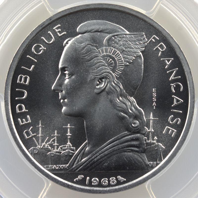 Lec.57   5 Francs   1968 Essai    PCGS-SP69    FDC exceptionnel