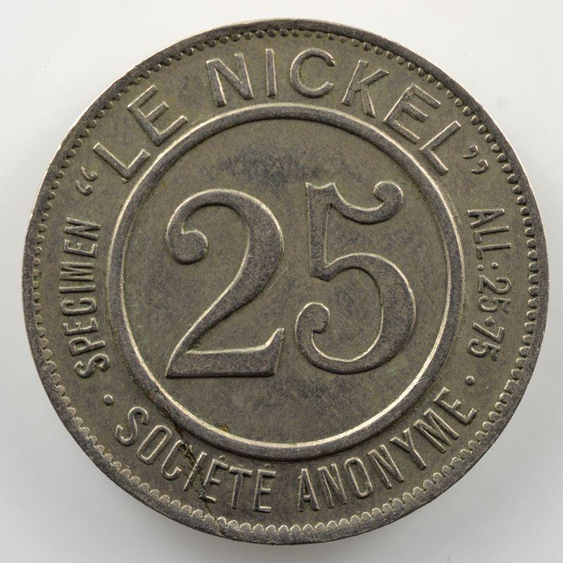Lec.7 - Elie 10.3   25 Cent.   1881  frappe médaille    TTB+
