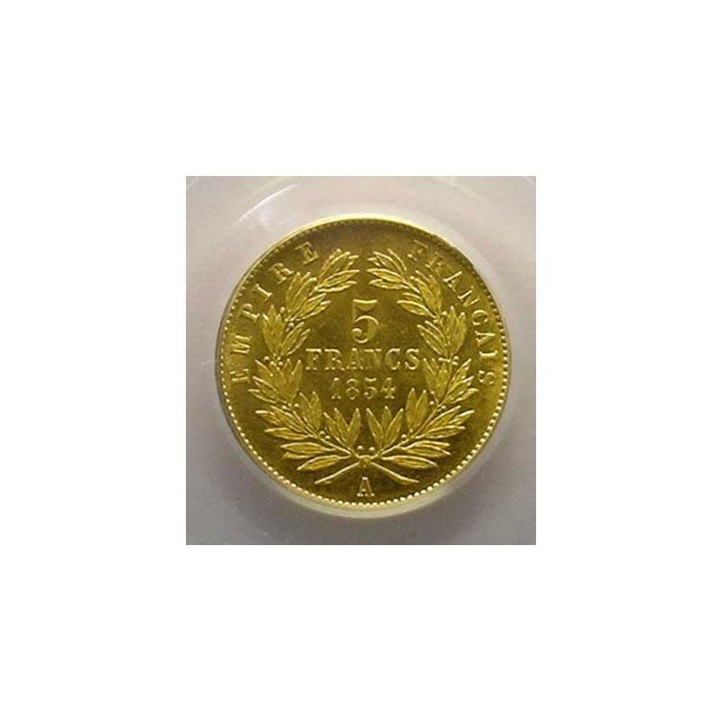 1854 A  (Paris)  tranche lisse    PCGS-MS64    pr.FDC