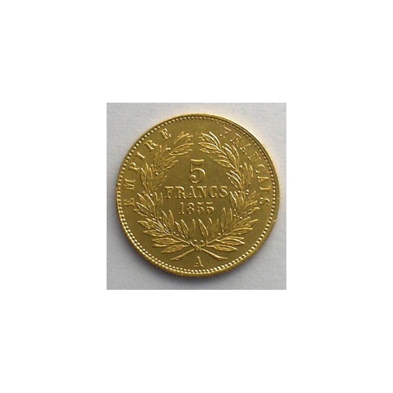 1855 A tranche cannelée    TTB/TTB+
