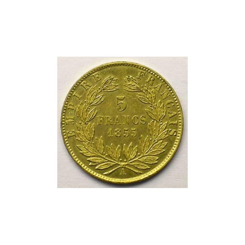 Essai uniface de revers en bronze doré   1855    FDC