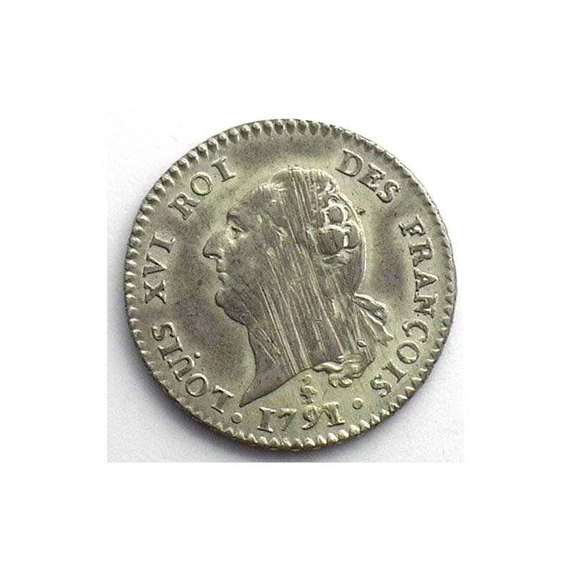 1791 A  (Paris)  héron  2° sem.    TTB+/SUP