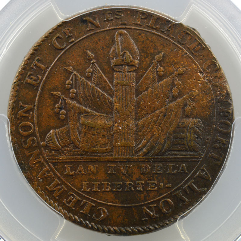 2 Sols    1792   An 4    PCGS-MS62BN    SP/FDC
