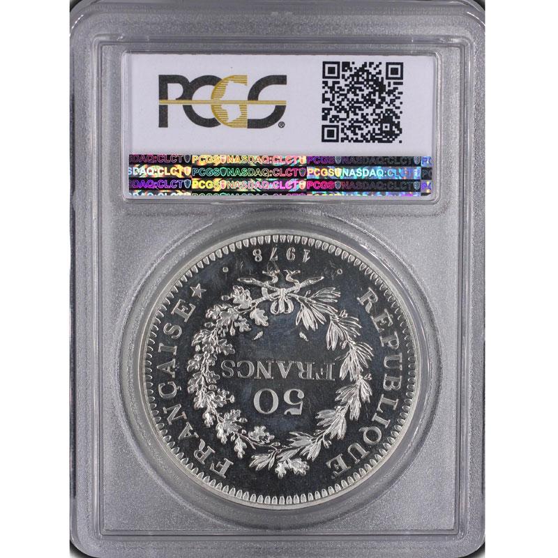 G.882P   50 Francs   1978  Piéfort en argent    PCGS-SP67    FDC