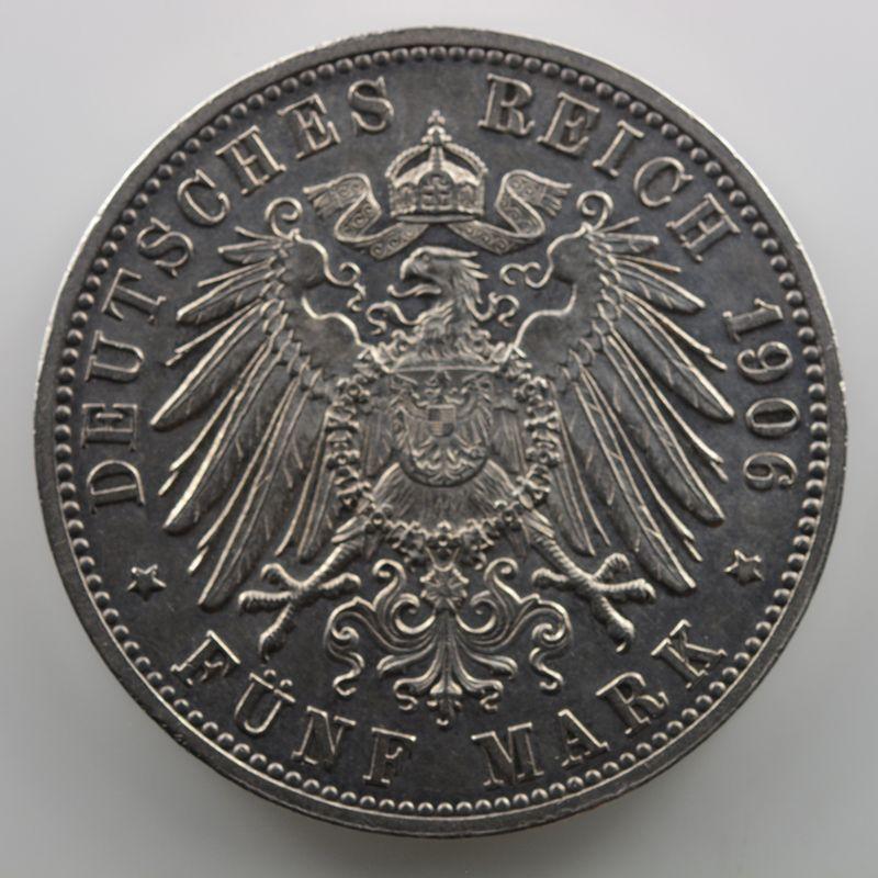 5 Mark   Friedrich und Luise von Baden   1906    TTB+/SUP