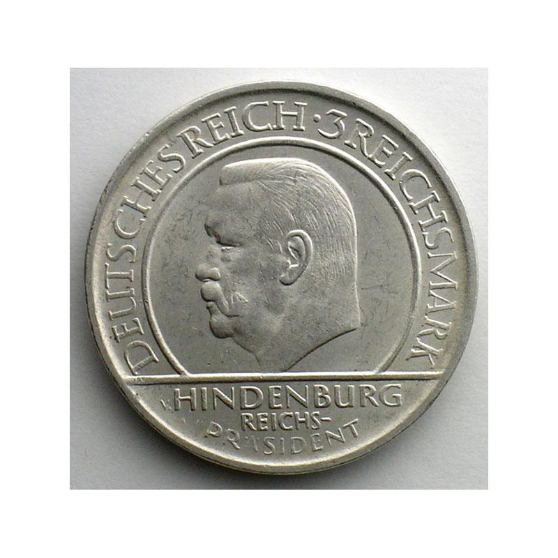 GDM 85   3 Reichsmark   1929 A   (10° anniversaire de la constitution de Weimar)    SUP/FDC