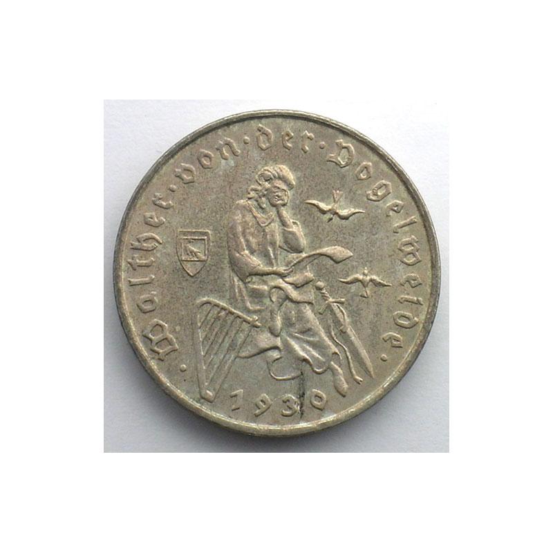 GDM 87   3 Reichsmark   1930 D   Walther von der Vogelweide    SUP
