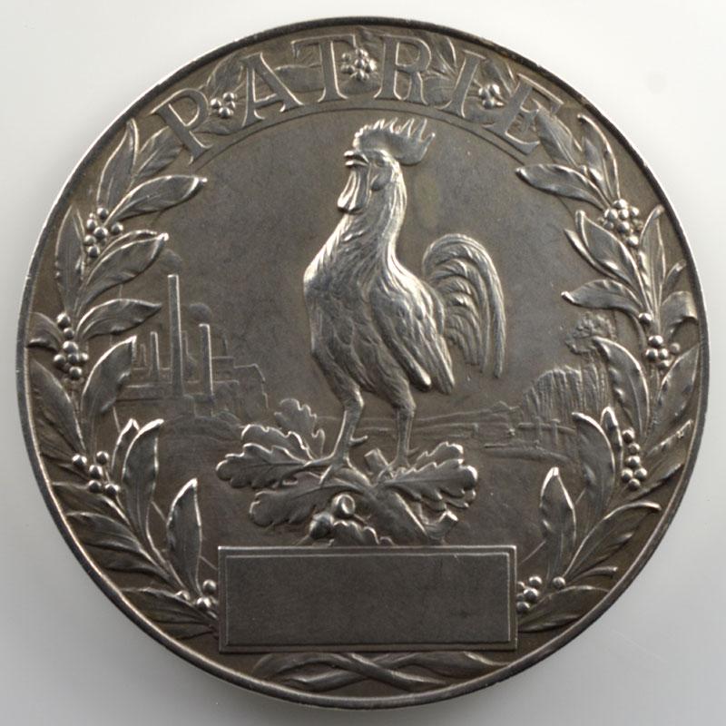 Hippolyte Lefebvre   Médaille en argent   50mm   Secours National - Journée Française   1915    SUP