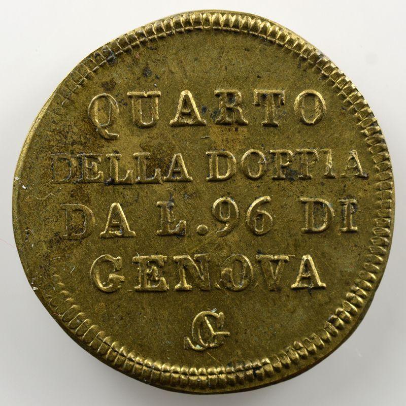 Poids monétaire du 24 Lires de Gênes   (1/4 Doppia de 96 Lires)    SUP