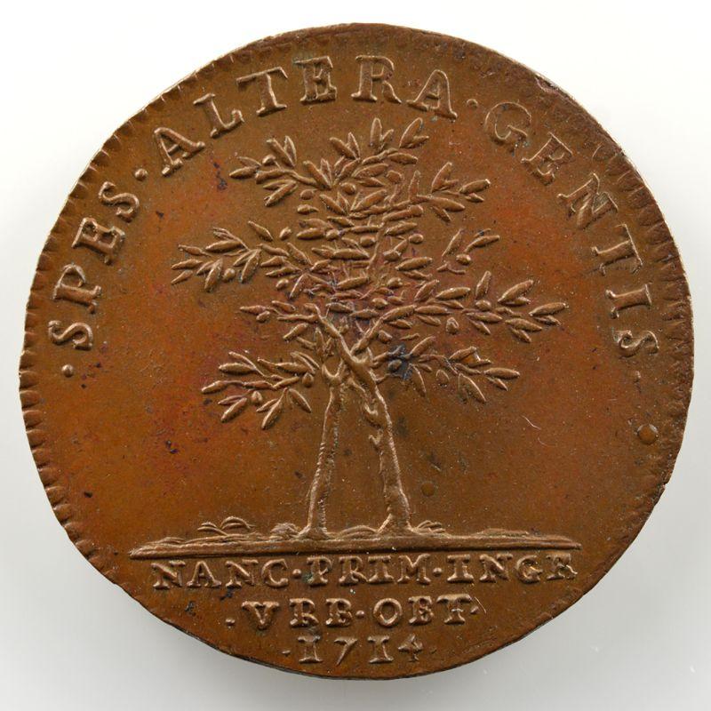 Ferdinand de Saint-Urbain   Jeton rond en bronze  26mm   François-Etienne   1714    SUP/FDC