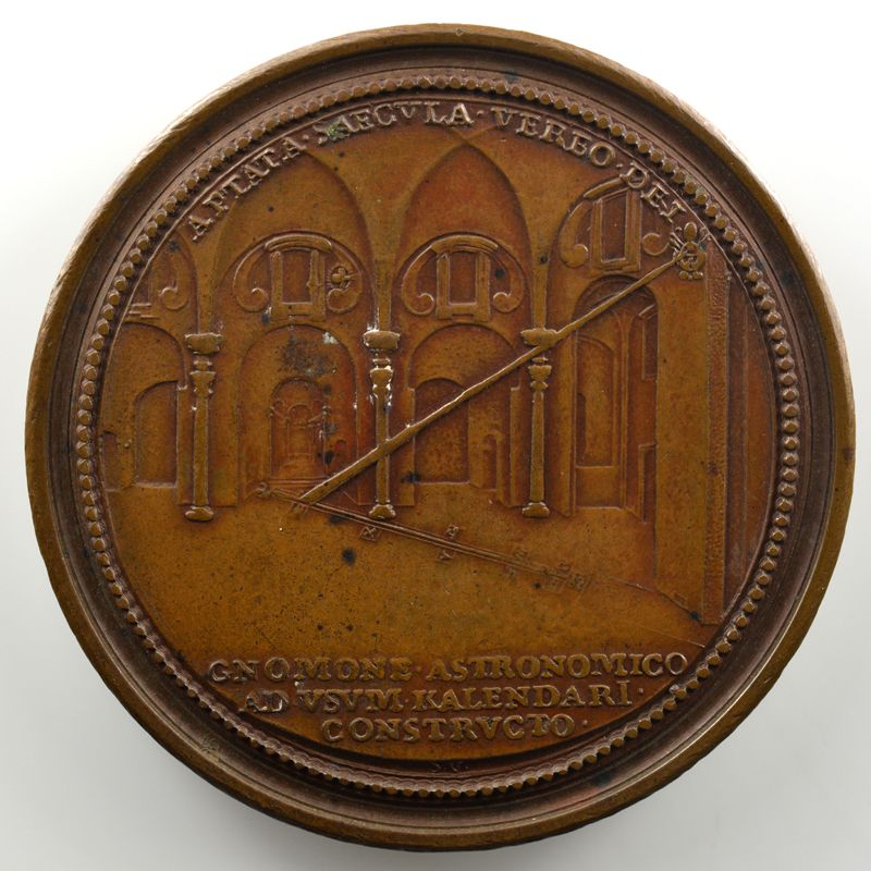 Ferdinand de Saint-Urbain   Médaille en bronze  53mm   La Méridienne tracée dans les Thermes de Dioclétien    SUP/FDC