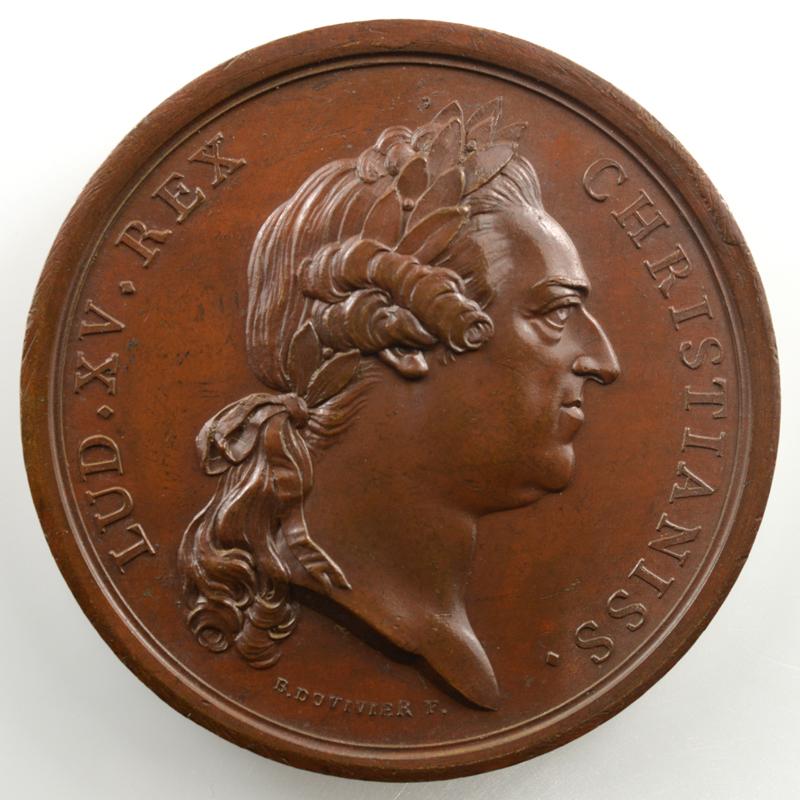 B. Duvivier   Mariage du Comte de Provence (futur Louis XVIII) avec Marie-Josèphe-Louise de Savoie   bronze   41mm    SUP/FDC