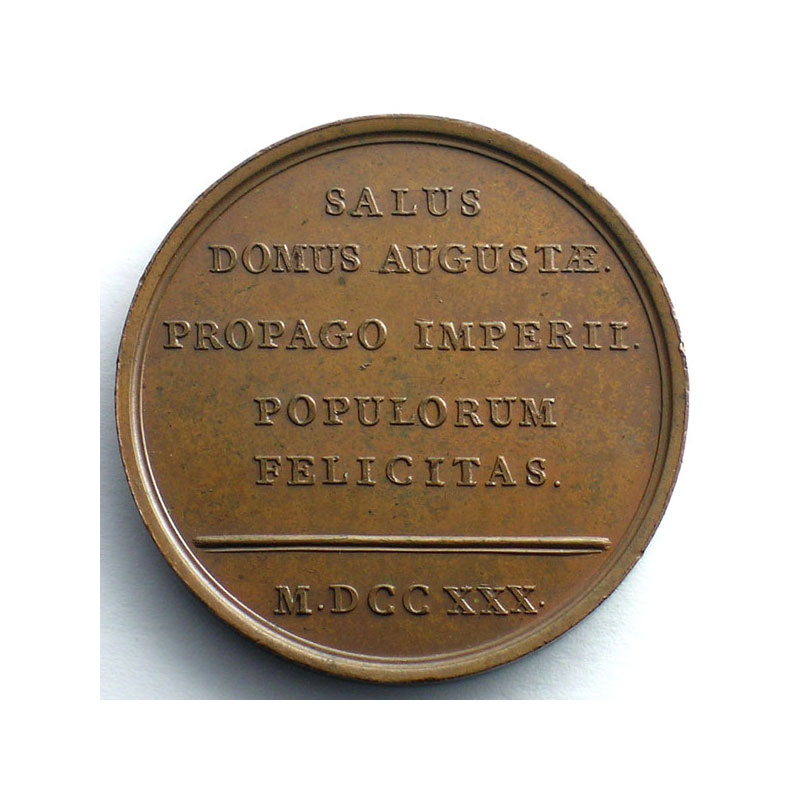 Duvivier/non signée   Naissance du Duc d'Anjou   bronze   41mm    SUP/FDC