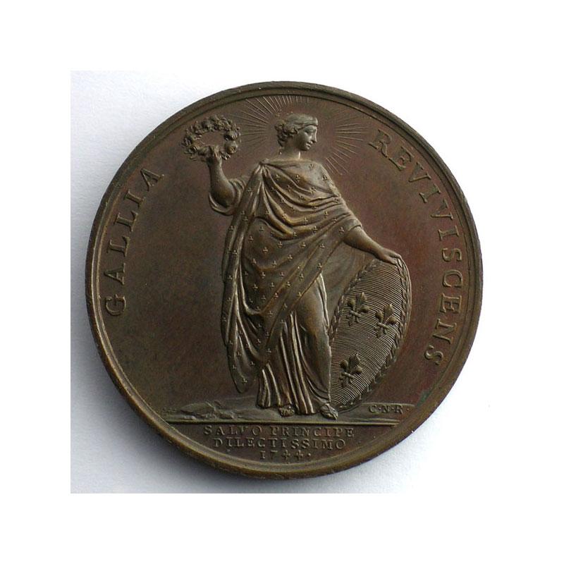 F.Marteau/C.N.Roettiers   Guérison du Roi   bronze   41mm    SUP/FDC