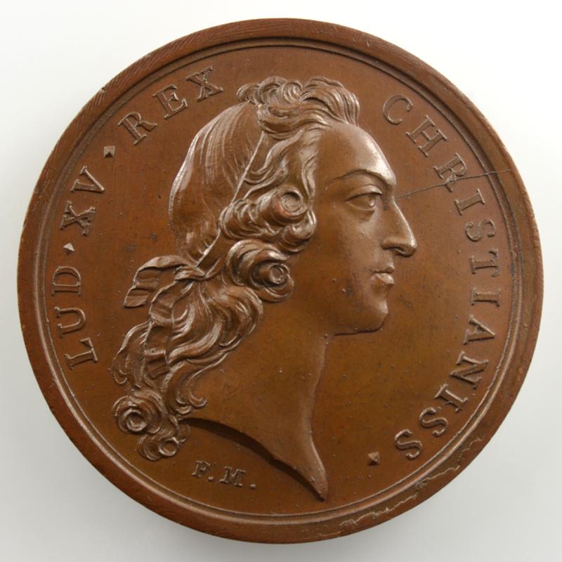 F. Marteau/ J.C. Roettiers   Conquêtes du Roi   bronze   41mm    SUP/FDC