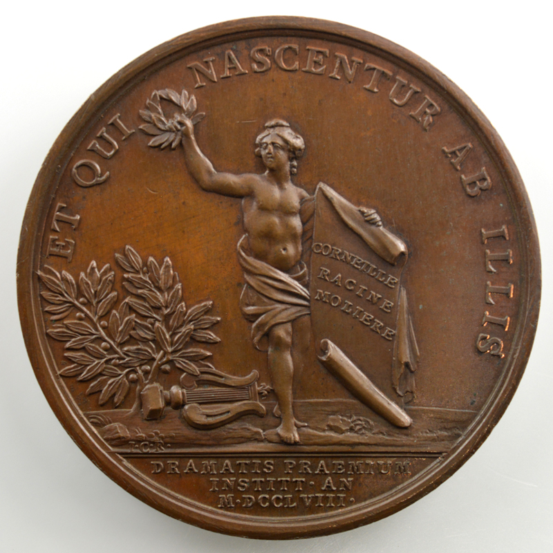 J. Duvivier/ J.C. Roettiers   Prix de l'art dramatique   bronze   41mm    SUP/FDC