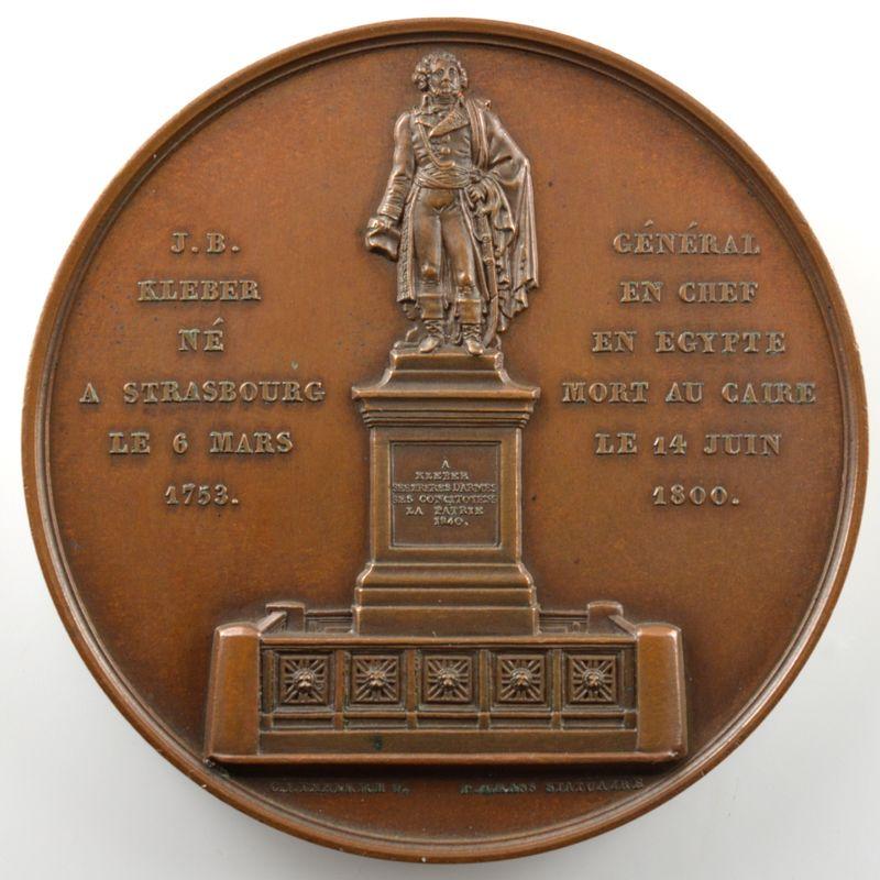 EMMERICH   Médaille en cuivre   59mm   Strasbourg   1840   SUP