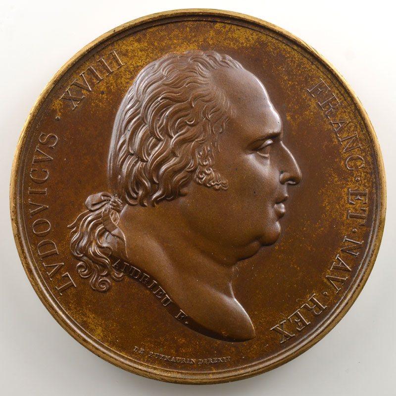 Andrieu/Gayrard   Bronze   50.5mm   1817   La disette    FDC