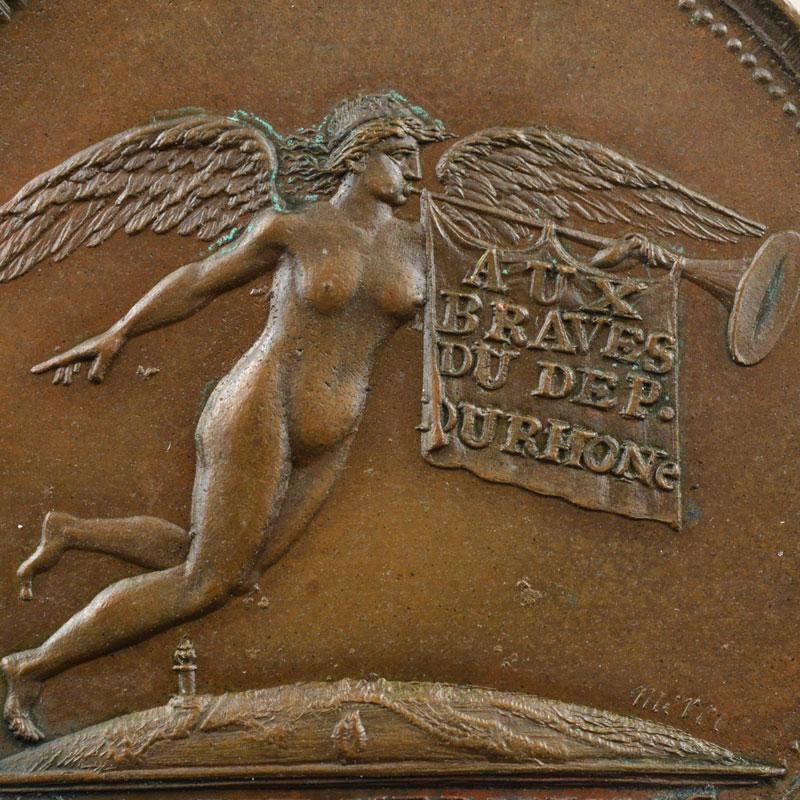 MERCIE   Colonne du Département du Rhône   An 8 (1799)   bronze   33mm    SUP