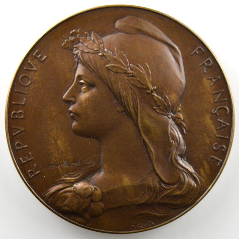 ROTY O.   Médaille en bronze   50mm   Centenaire de la Prise de la Bastille   1789-1889    SUP/FDC