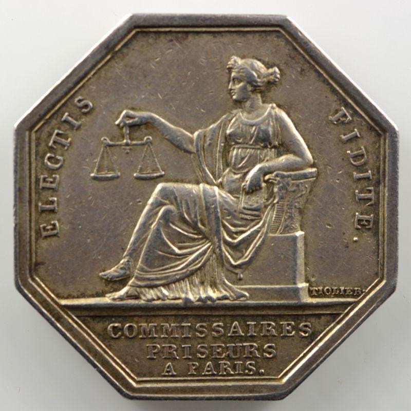 Tiolier   Jeton octogonal en argent   Napoléon I   Paris    TTB