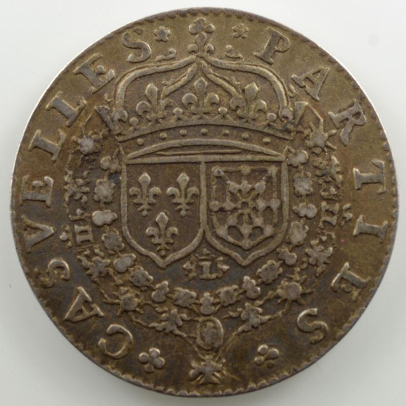 jeton rond en argent   27mm   1633   (Louis XIII)    TTB