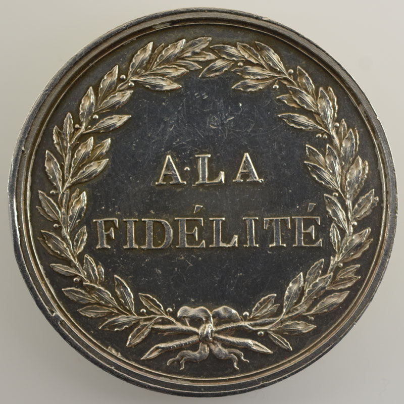 ANDRIEU   A la Fidélité (1804)   argent   39 mm    TTB+