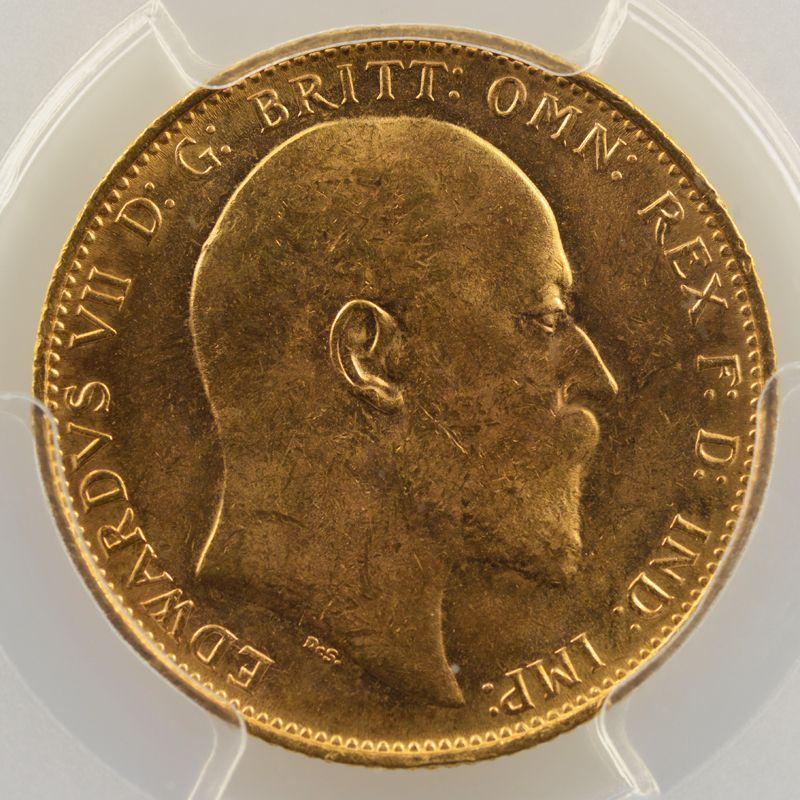 Souverain / Sovereign   1908 M (Melbourne)    PCGS-MS63    SUP/FDC