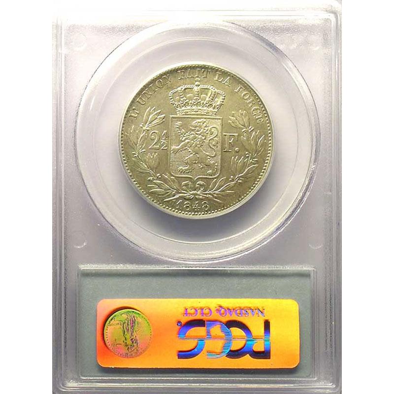 2 1/2 Francs   1848 petite tête   PCGS-AU50    TTB/TTB+