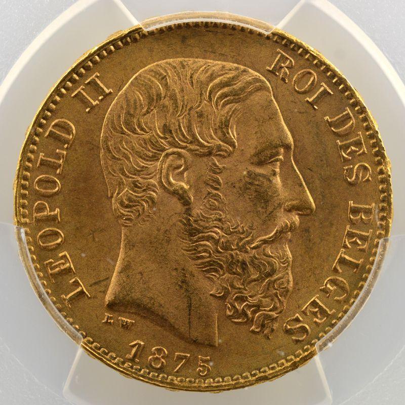20 Francs   1875    PCGS-MS65    FDC