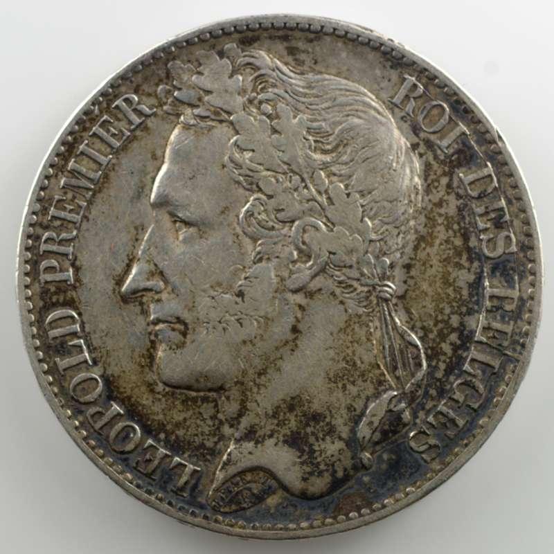 5 Francs   1849 tranche en relief    TTB