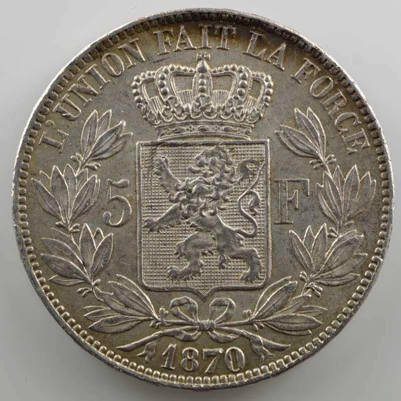 5 Francs   1870    SUP
