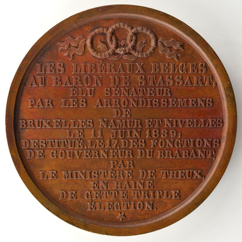 HART   Goswin Joseph Augustin, Baron de Stassart   bronze   50mm    SUP/FDC
