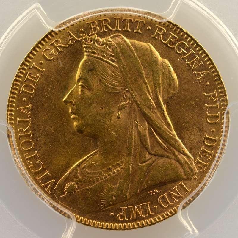 Souverain   1900  (Londres)    PCGS-MS63    SUP/FDC