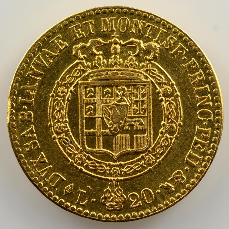20 Lire   Victor-Emmanuel I (1802-1821)   1819 L  (Turin)    TTB+