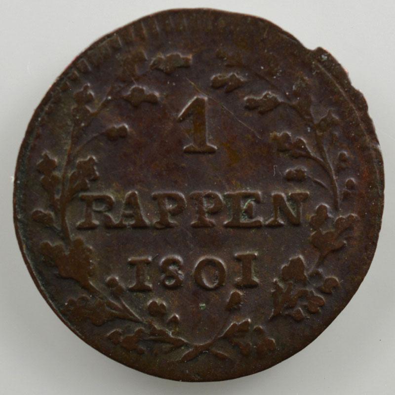 1 Rappen   1801    TB+/TTB