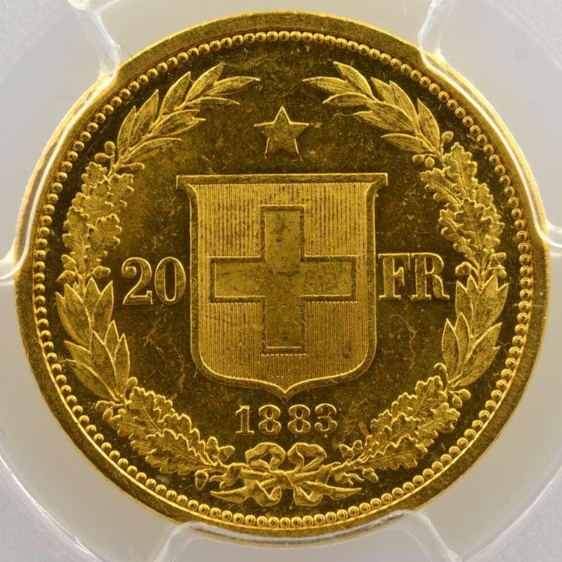20 Francs   1883    PCGS-MS63    SUP/FDC